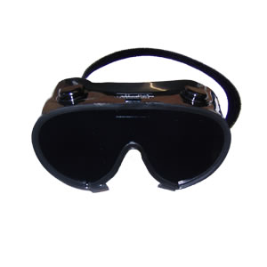 blindfold goggles in black plastic